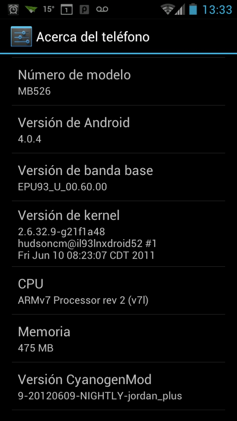 Android 4 para Motorola Defy – Icecream Sandwich (Reloaded) (2/3)